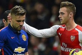 luke shaw arsenal twitter  266x179 Home, Manchester United News